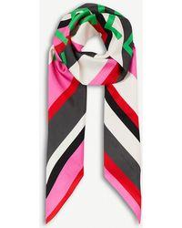 Balenciaga - Bazar Logo-print Silk-twill Scarf - Lyst