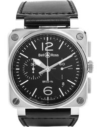 Bell & Ross - Br0394blce Aviation Ceramic And Rubber Watch - Lyst