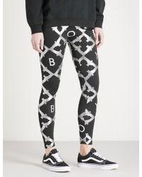 BOY London - Echo Eagle-print Cotton-jersey Leggings - Lyst