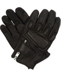 Sandro - Race Quilted Leather Gloves - Lyst