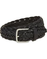 The Kooples - Plaited Leather Belt - Lyst