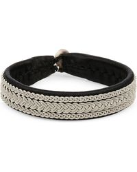 Maria Rudman | Pewter Three Row Woven Bracelet | Lyst