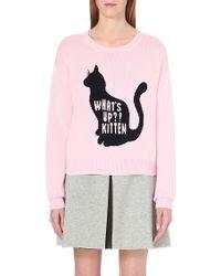 Chocoolate - Kitten-intarsia Knitted Jumper - Lyst