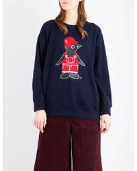 Chocoolate - Penguin-print Knitted Jumper - Lyst