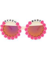 Rad & Refined - Beach Babe Round-frame Sunglasses - Lyst