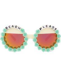 Rad & Refined - Beach Please Round-frame Sunglasses - Lyst