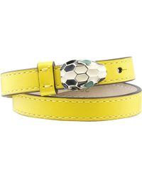 bvlgari serpenti doublecoil leather bracelet lyst