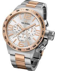 TW Steel - Cb123 Canteen Rose Gold Pvd-plated And Stainless Steel Chronograph Watch - Lyst
