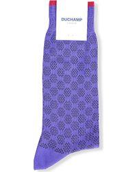 Duchamp - Spot-patterned Knitted Socks - Lyst