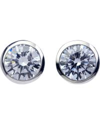 Carat* - Rosie 9ct White Gold And 0.45ct Solitaire Studs - Lyst