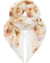 Erdem - Watercolour Butterflies Silk Voile Scarf - Lyst