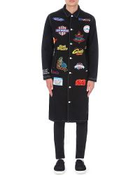 Gcds - Patch Embroidered Denim Coat - Lyst