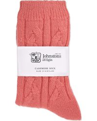 Johnstons - Cable Knit Cashmere Socks - Lyst