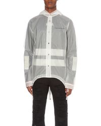 Hood By Air - Transparent Crepe Raincoat - Lyst
