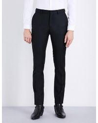 The Kooples - Slim-fit Tapered Wool Trousers - Lyst