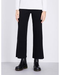 Izzue - Wide Leg Ribbed-knit Trousers - Lyst