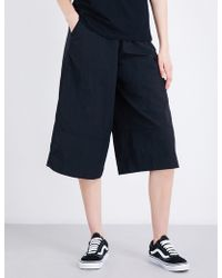 Izzue - High-rise Wide-leg Shell Culottes - Lyst