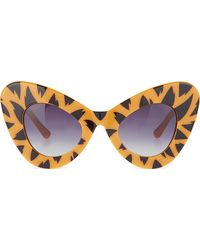Jeremy Scott - Tiger Print Cat-eye Sunglasses - Lyst