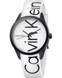 CALVIN KLEIN 205W39NYC - Colour Stainless Steel And Rubber Watch - Lyst