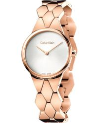 CALVIN KLEIN 205W39NYC - K6e23646 Snake Rose Gold-plated Stainless Steel Watch - Lyst