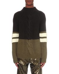 Astrid Andersen - High-neck Colour-block Knitted Jumper - Lyst