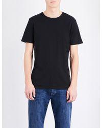 PAIGE - Crewneck Cotton T-shirt - Lyst