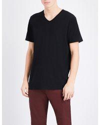 PAIGE - V-neck Cotton T-shirt - Lyst