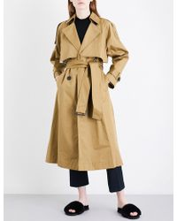 Mo&co. - Belted Cotton-twill Trench Coat - Lyst