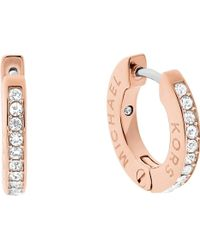 Michael Kors - Haute Hardware Rose Gold-tone Crystal Earrings - Lyst