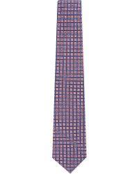Turnbull & Asser - Tonal Diamond Silk Tie - Lyst