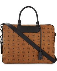 MCM - Nomad Leather Briefcase - Lyst