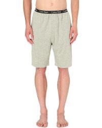 Calvin Klein - Mid-rise Jersey Pyjama Shorts - Lyst