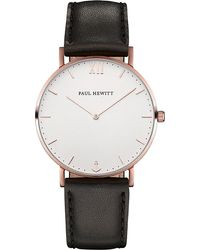 PAUL HEWITT - Sailor Line Rose Gold-plated Leather Watch - Lyst
