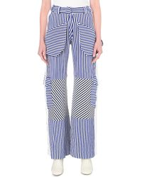 Richard Malone | Stripe Print Knitted Trousers | Lyst