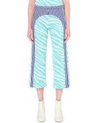 Richard Malone - Stripe Print Knitted Trousers - Lyst