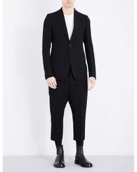 Rick Owens - Astaire Cropped Wool-blend Suit - Lyst