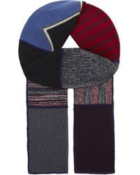 See By Chloé - Patchwork Wool-blend Scarf - Lyst