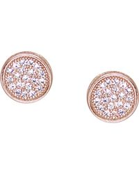 Carat* - Rose Gold-vermeil And Pavé Stud Earrings - Lyst