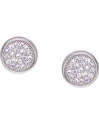 Carat* - White Gold Sterling Silver Stud Earrings - Lyst