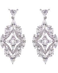 Carat* - Antoinette Solitaire Chandelier Earrings - Lyst