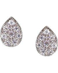 Carat* - Tear Drop Sterling Silver Stud Earrings - Lyst