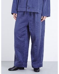 Björn Borg - Workwear Wide-leg Silk Trousers - Lyst