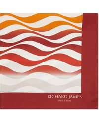 Richard James - Wave Pattern Silk Pocket Square - Lyst
