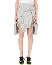 Wanda Nylon - Alma Crossed-sleeve Cotton-jersey Skirt - Lyst
