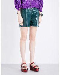 Toga - High-rise Laminated Shorts - Lyst