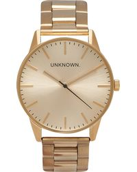Unknown | Classic Gold-toned Stainless Steel Un15tc15 Watch | Lyst