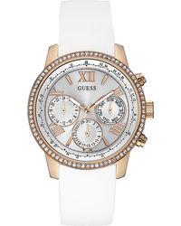 Guess - W0616l1 Sunrise Stainless Steel Watch - Lyst