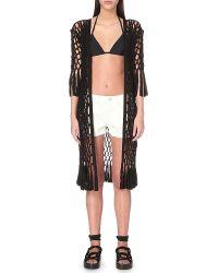 AllSaints - Azeen Macramé Kimono - Lyst