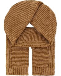 Junya Watanabe - Knitted Wool & Cashmere Scarf - Lyst
