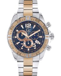 Gc - Y02002g7 Sportracer Stainless Steel Watch - Lyst